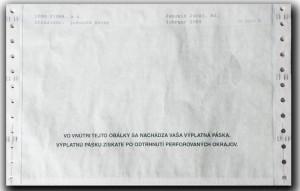 2. strana diskrétnej výplatnej pásky