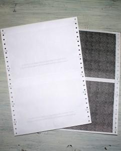 3-vrstvový tabelačný papier - diskrétne výplatné pásky
